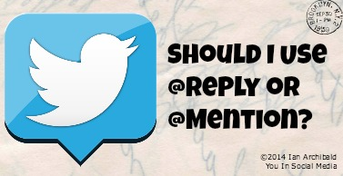 twitter tip reply or mention